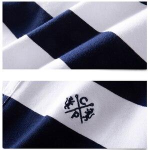 Image 4 - الرجال قميص بولو الصيف الرجال عادية تنفس حجم كبير 5XL 6XL مخطط قميص بولو بكم قصير قميص بولو القطن الخالص موضة الرجال الملابس