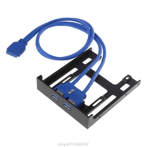 """Image 5 - 20 Pin 3.5"""" Floppy Bay Front Panel 2 Ports USB 3.0 Expansion Adapter Connector  F22 21 Dropshipping"""