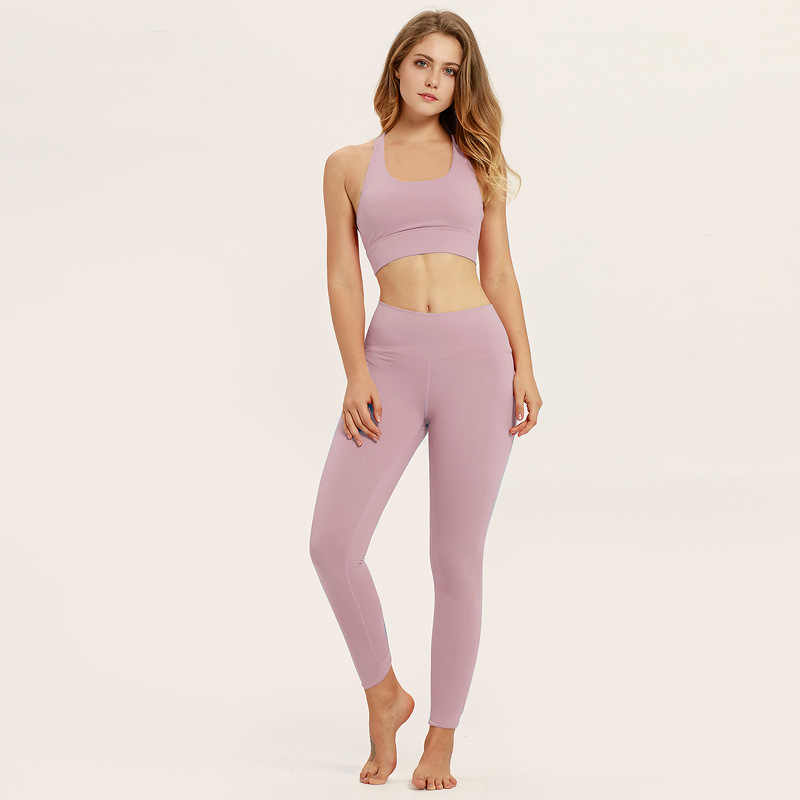 Women S Yoga Fitness Pants Set Absorbs Wet Sweat Yoga Wear Exercise Running Set Yoga Sets Women Gym Clothes Fitness Clothing Aliexpress