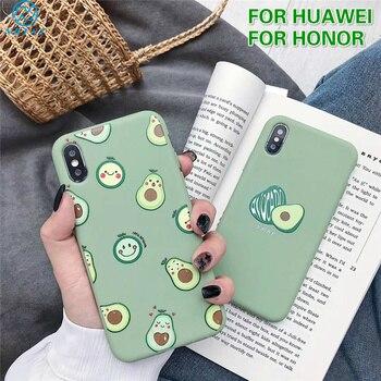 Перейти на Алиэкспресс и купить Милый чехол с авокадо для Huawei Nova 5T 7i 6SE P40 Lite P30 P20 P10 P Smart Pro 2019 Y9S Honor 10 Lite 20 8X 7X, мягкий силиконовый чехол