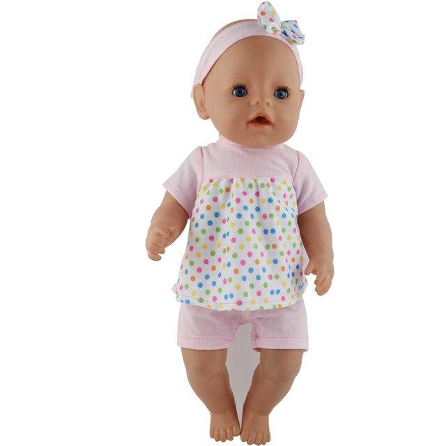 15 di colore Vestiti per le Bambole Vestito Adatto Per 43 centimetri Bambole Vestiti Del Bambino Nuovo Nato Bambola 17 Pollici, bambini migliore Regalo Di Compleanno 5
