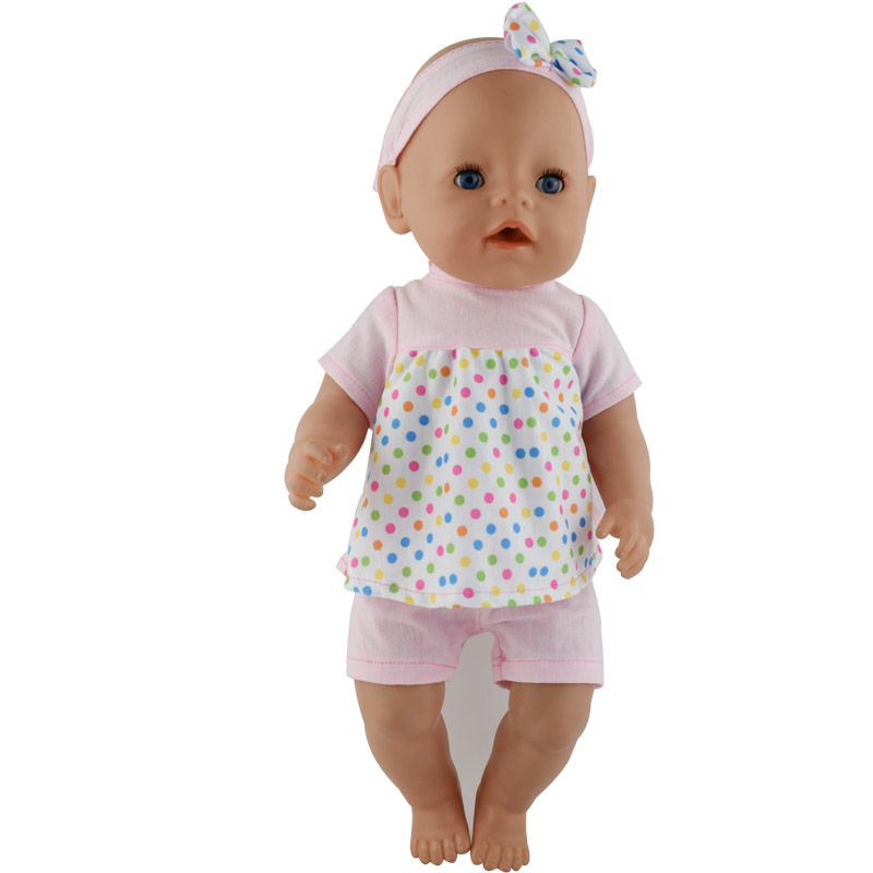 15color Doll Clothes Suit Fit For 43cm Baby New Born Doll 17 Inch Dolls