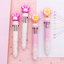 Kawaii Pen for Kids Gifts Multi Function Press and Retract 10 Color Ballpoint Pen Lovely Creative Student with Multi Color водолазка milanika milanika mp002xw1ihjl