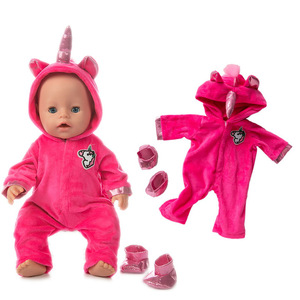 Image 1 - New fashion Jumpsuits Fit For 43cm Zapf Born Baby Doll 17inch Born Babies Doll Clothes