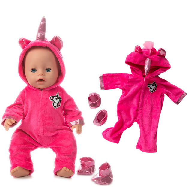 New fashion Jumpsuits Fit For 43cm Zapf Born Baby Doll 17inch Born Babies Doll Clothes