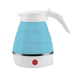 Travel Foldable Electric Kettle - Fast Water Boiling - Food Grade Silicone - Small, Collapsible, Portable - Boil Dry Protection