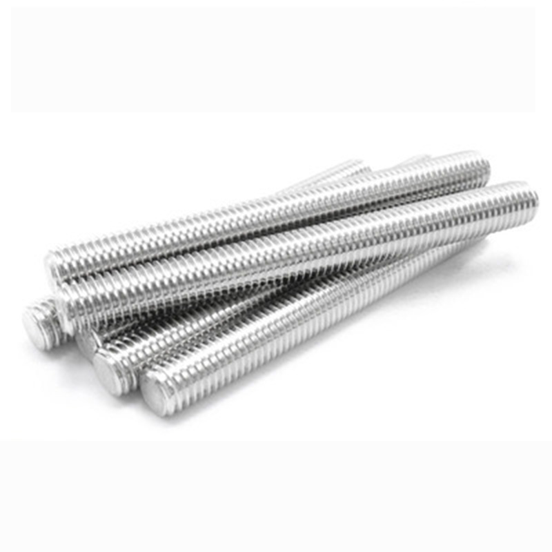M6 M8 304 Stainless Steel Full Thread Screw Stud Bolts Screw Rod Tooth Stick Double Head Stud Srod Bolt 16-200mm