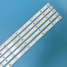 "5pcs LED רצועת 12 נוריות LB43014 V0_00 עבור פיליפס 43 ""טלוויזיה 43PUS6551 TPT430U3 EQLSJA. G 43PUS6501 43PUS6101 43PUS6201 43PUS7202"