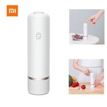 Xiaomi mijia Miaomiaoce мини электрический USB воздушный вакуумный насос 2 режима 3л/мин для хранения продуктов питания всасывающий насос+ 9 компрессионные мешки