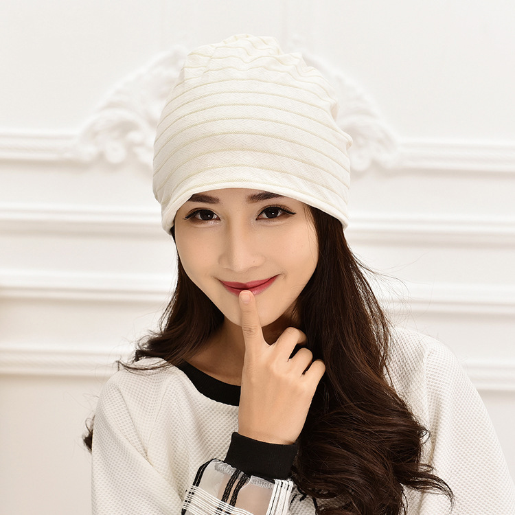 Pregnant Women Confinement Cap Postpartum Breathable Stripes Hat Dui Dui Mao Multi-Purpose-Anti-Head Wind Time Of Childbirth Hea