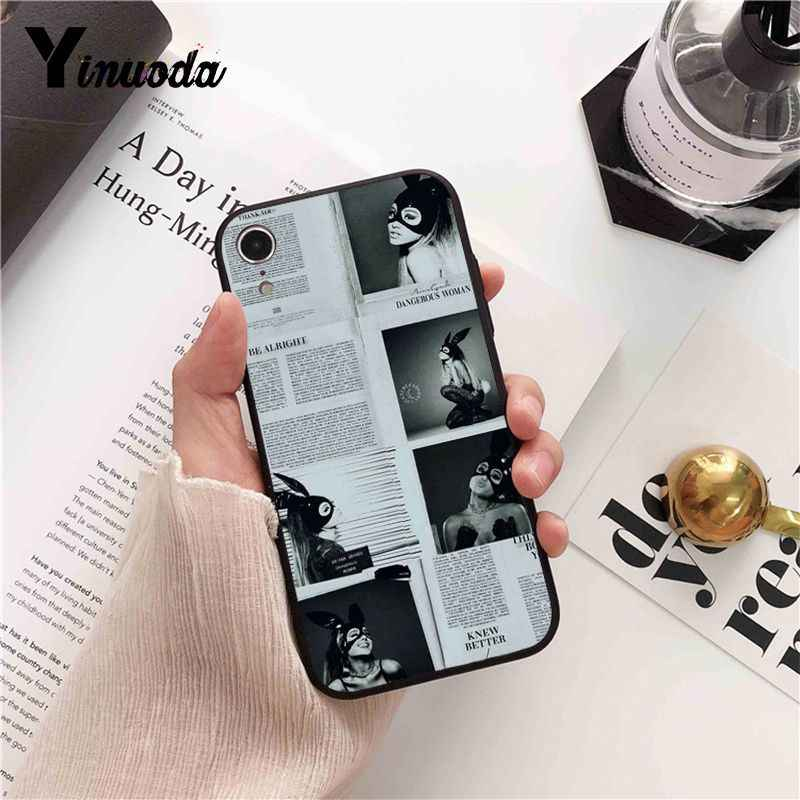 Yinuoda Ariana Grande Diy Luxe High-End Protector Telefoon Case Voor Iphone 8 7 6 6S X Xs max 5 5S Se Xr 10 11 Pro Max