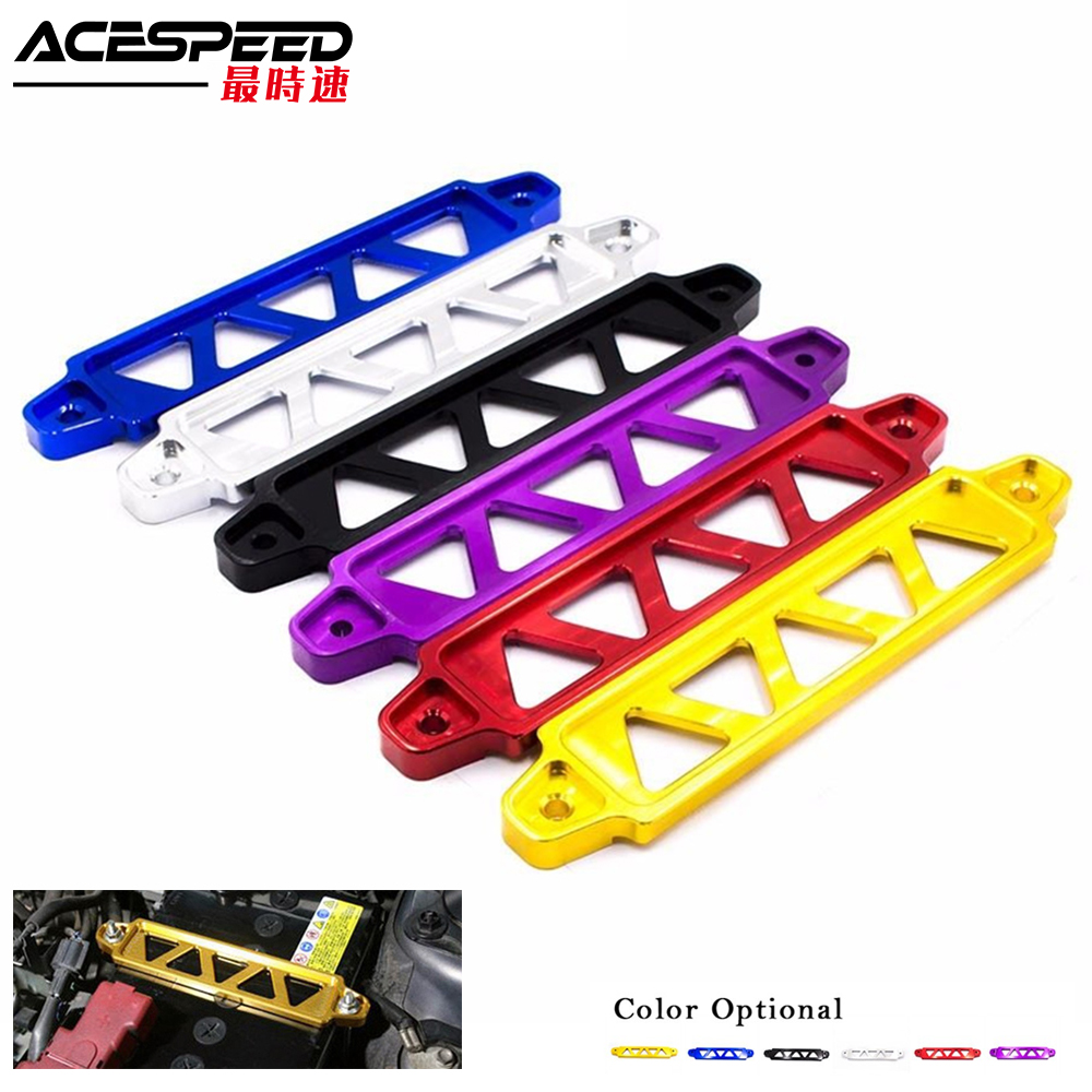 Aluminum Alloy Car Battery Fasten Bracket Holder Battery Tie Down Brace Fits For Honda Civic EG