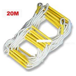 20M échelle de corde de sauvetage 4-5th échelle d'évasion de plancher travail d'urgence réponse de sécurité sauvetage incendie escalade anti-dérapant échelle souple