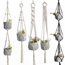 Indoor-Pot-Hanger Hanging-Plant Handmade 100%Macrame Good-Quality Hot-Sales