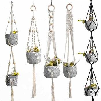 Hot sales good quality 100% macrame handmade  plant  hanging plant indoor pot hanger plant hanger