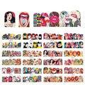 12 дизайнерские наклейки для ногтей набор Смешанные Цветочные геометрические сексуальные девушки Нейл-арт Переводные переводные наклейки ...