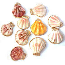 New Fashion Natural Shell Pendants Colorful Pendant Charms Necklace for Jewelry Making Accessories 32x40mm35x45mm