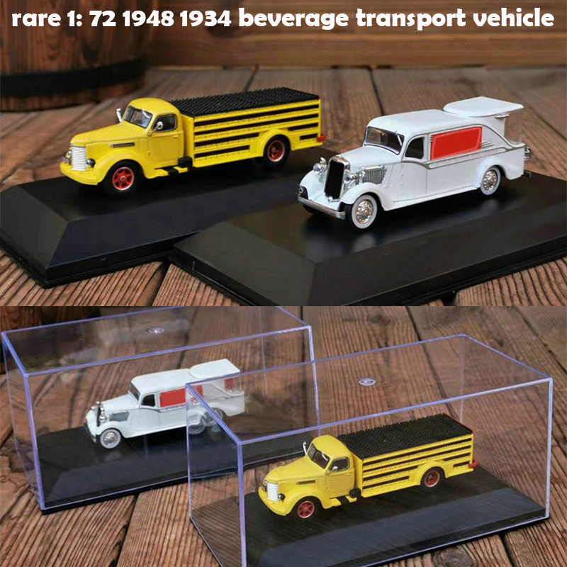Rare  1: 72 1948 1934 Beverage Transport Vehicle  Alloy Car Model  Collection Of Ornaments