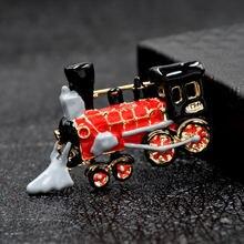 Cindy xiang эмалированная брошь в форме поезда креативные Броши