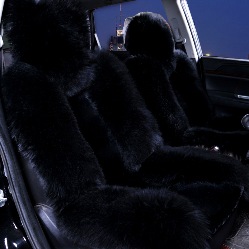 Image 3 - Wool Car Seat Cover Winter Warm Automobiles Seat Cushion Natural Fur Australian Sheepskin Auto Seats Cover Cars Fur Accessories-in Automobiles Seat Covers from Automobiles & Motorcycles