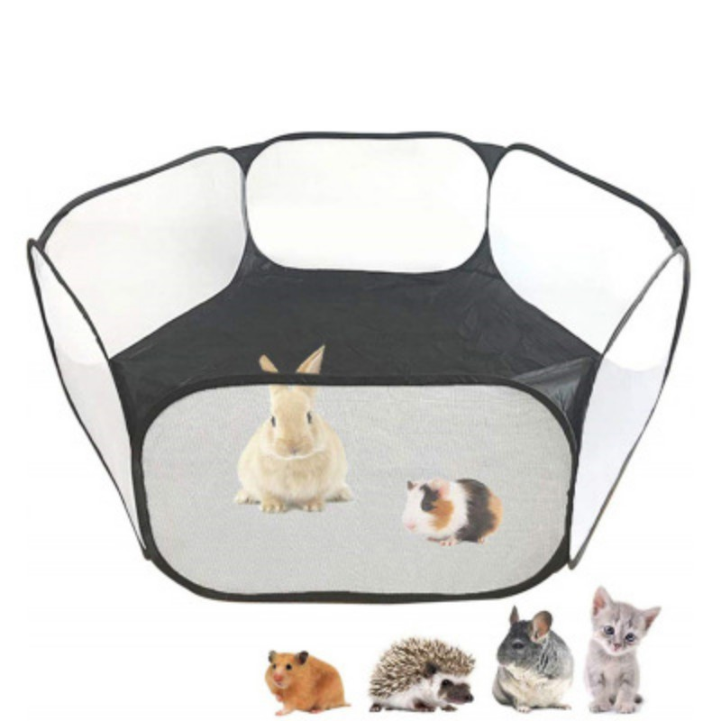 Portable Small Animals Exercise Fence Foldable Rabbits Hamster Cage Tent Play Fence