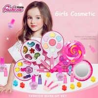 Les enfants composent des jouets ensemble de beauté de mode Kit de maquillage Non toxique sûr pour les filles robe de princesse bébé jouets cosmétiques cadeaux