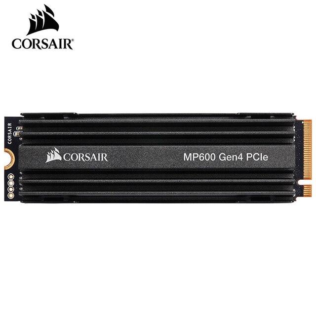 سلسلة CORSAIR Force MP600 SSD NVMe PCIe Gen 4.0X4 M.2 SSD 1 تيرا بايت 2 تيرا بايت تخزين محرك الحالة الصلبة 4950 برميل/الثانية M.2 2280 SSD