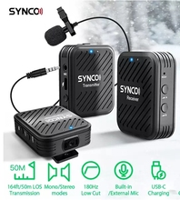 SYNCO G1(A2) 2.4GHz Lavalier Wireless Microphone System for Smartphone Laptop DSLR Tablet Camcorder Recorder pk comica