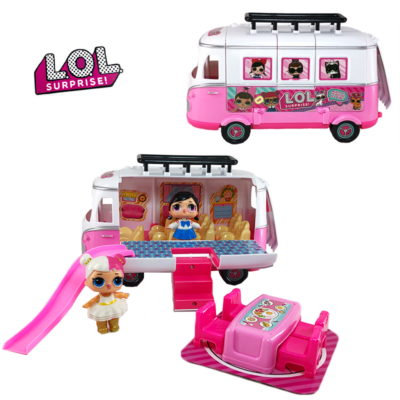 LOL Surprise Dolls Toy Mobile Picnic Car Family Games PVC Action Figure Lol Doll Set Toys For Children Girls Birthday Gifts 2S80