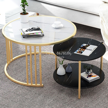 Nordic Small Coffee Table Modern Creative Home Living Room Sofa Round   Bedside Multifunctional Removable