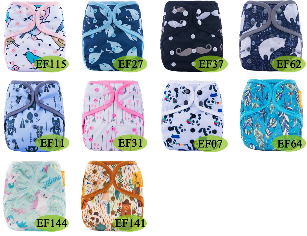 12pcs/ Lot Happy Flute Diaper Cover One Size Cloth Diaper Waterproof PUL Breathable Reusable Diaper Covers for Baby Fit 3-15kg