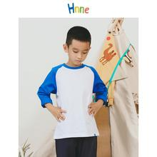 Girls Top T-Shirt kids Long-Sleeve Hnne Cartoon 100%Cotton Thin Unisex Comfortable Contrast-Color