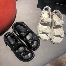 women shoes sandals 2020 summer flat white sandals