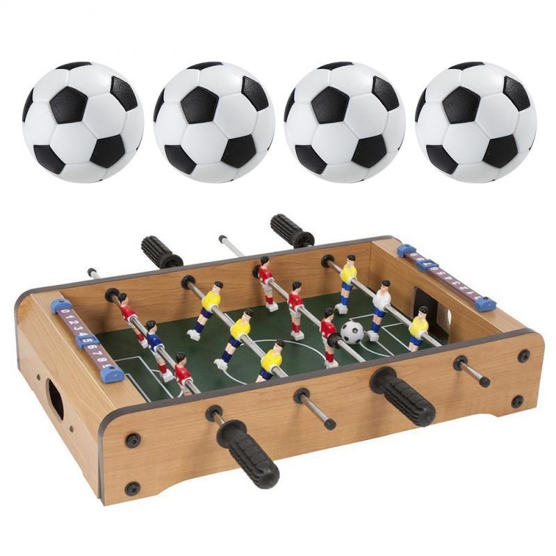 4 Pcs 32mm Football Fussball Soccerball Sport Gifts Round Indoor Games Foosball Table Football Plastic Soccer Ball New