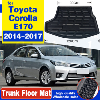 For Toyota Corolla Altis E170 2014 2015 2016 2017 Boot Mat Rear Trunk Liner Cargo Floor Carpet Guard Protector Car Accessories image
