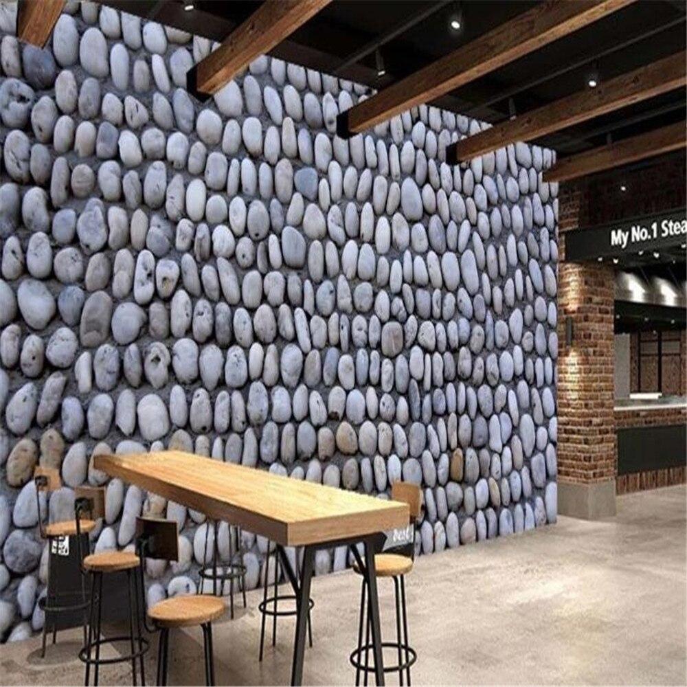 Milofi custom 3D modern fashion large wallpaper mural pebble material background wall