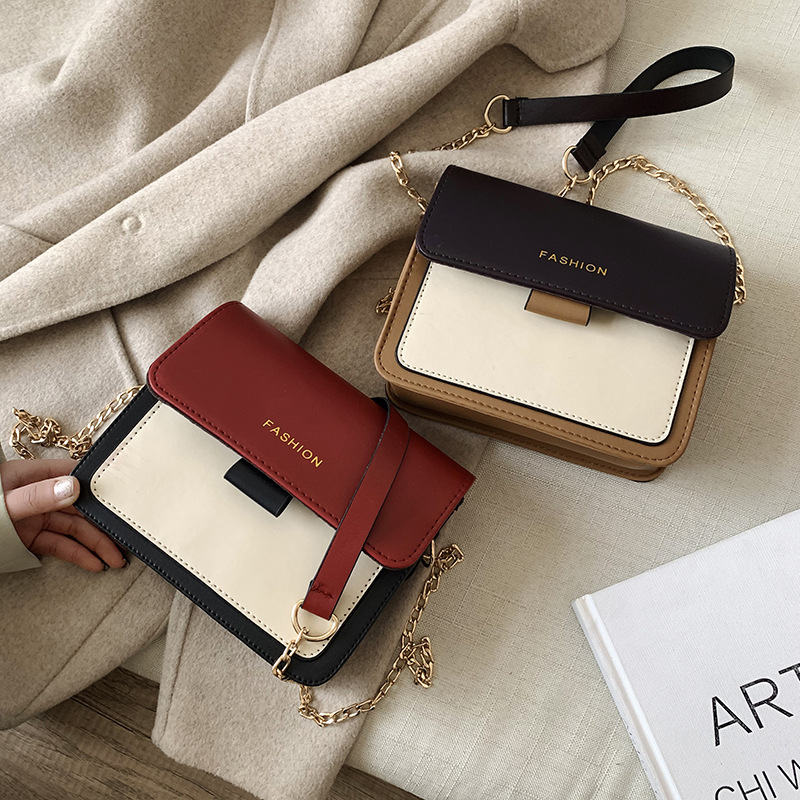 2020 New Ins Women's Bag Small Square Bag Ladies Handbags Female Korean Chain Bags Women Wild Messenger Bag Fashion Shoulder Bag