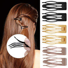 10 Pcs Double-grip Hair Clips Metal Snap Button Barrettes Hair Styling Tools Women Hair Side Clamps Non-slip Broken Hair Clip