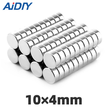 25/50/100 pcs 10x4mm  strong round neodymium magnets M35 super powerful permanent magnet 10*4mm