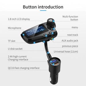 Image 3 - Jajabor Bluetooth 5.0 Xe Bộ Tay Phát FM Aux Thiết Bị Thu Âm Thanh Xe Ô Tô MP3 Người Chơi QC3.0 Sạc Nhanh Màn Hình LCD 1.8 Inch màn Hình Hiển Thị
