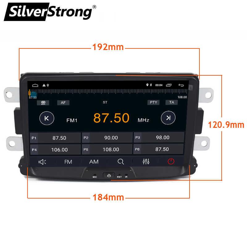 SilverStrong Android9.0 4 グラム 64 グラム 1DIN 車の Gps ルノーダスターローガン LADA XRAY シンボル DACIA Kaptur DOKKER ラジオナビマルチメディア