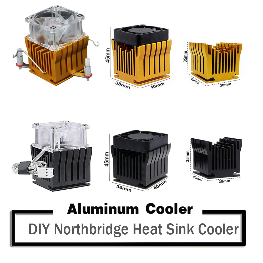 DIY Aluminium Northbridge Heatsink Cooler Motherboard Radiator w/4cm Fan For PC Computer Case South North Bridge Chipset Cooling(China)