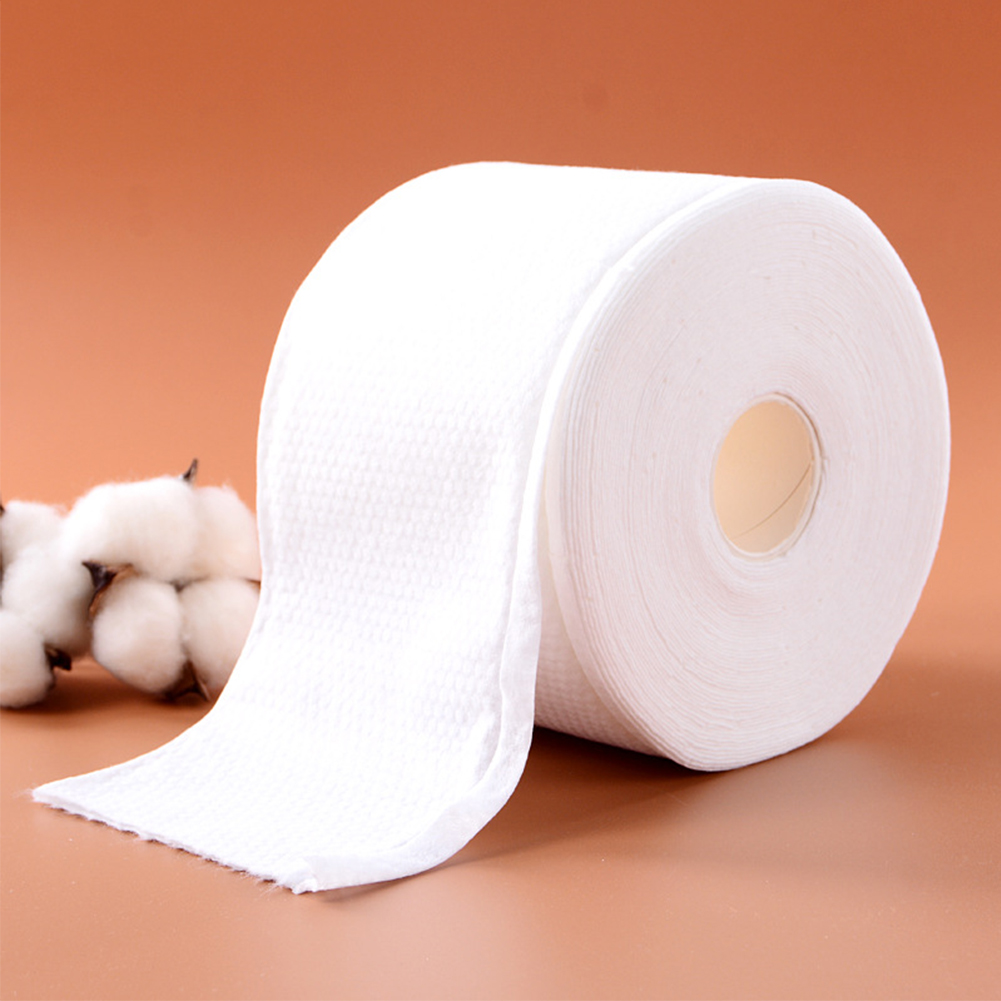 Disposable Wet Dry Non Woven Fabric Roll Paper Travel Wipe Cleansing Facial Tissue Soft Bathroom Makeup Remove Home Thicken
