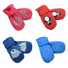 Светильник; Тонкие Детские Водонепроницаемые Нескользящие теплые перчатки с рисунком; Детские Зимние Лыжные рукавицы