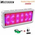 MasterGrow II 2000W Doppel Chips LED Wachsen Licht Gesamte Spektrum 410-730nm Rot/Blau/Weiß/UV/ IR Für Indoor Pflanzen und Blume Satz