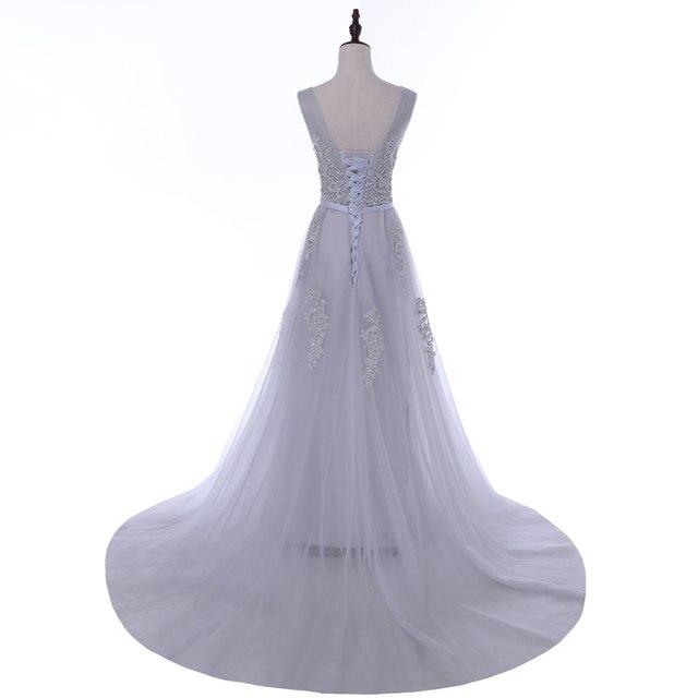 Pregnant plus women communion dresses Long Dress Evening Dress prom party Robe De Soiree beads lace pleat neck robe de soiree 5
