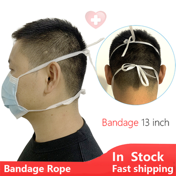 13''Bandage Rope Disposable Mask Protective Mouth Face Mask Anti Dust Masks 3 layer Meltblown Filter flu fog Masque pharmacy