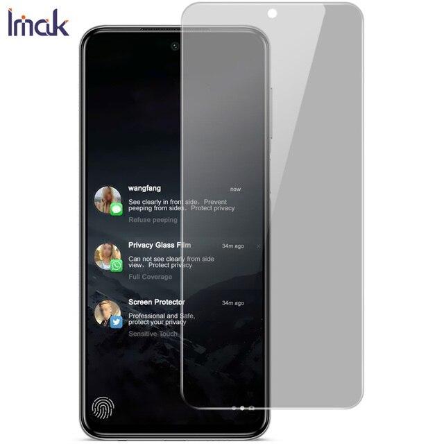 IMAK פרטיות אנטי בוהק מזג זכוכית עבור Xiaomi Redmi הערה 9s מסך מגן אנטי מציץ סרט Redmi הערה 9 פרו מקסימום S זכוכית