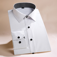 New Men's Long Sleeve Shirt Business Casual Cotton