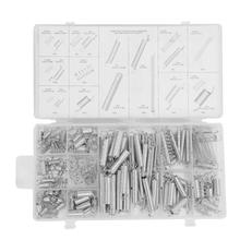 200pcs/Set  20 Sizes Extension Tension Compression Spring Assortment Metal Springs Kit with Box цена